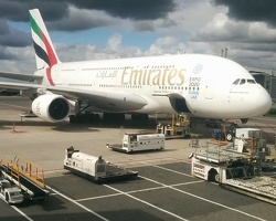 A380 on schiphol airport - amsterdam