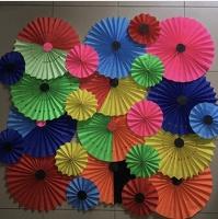 paper fans collage